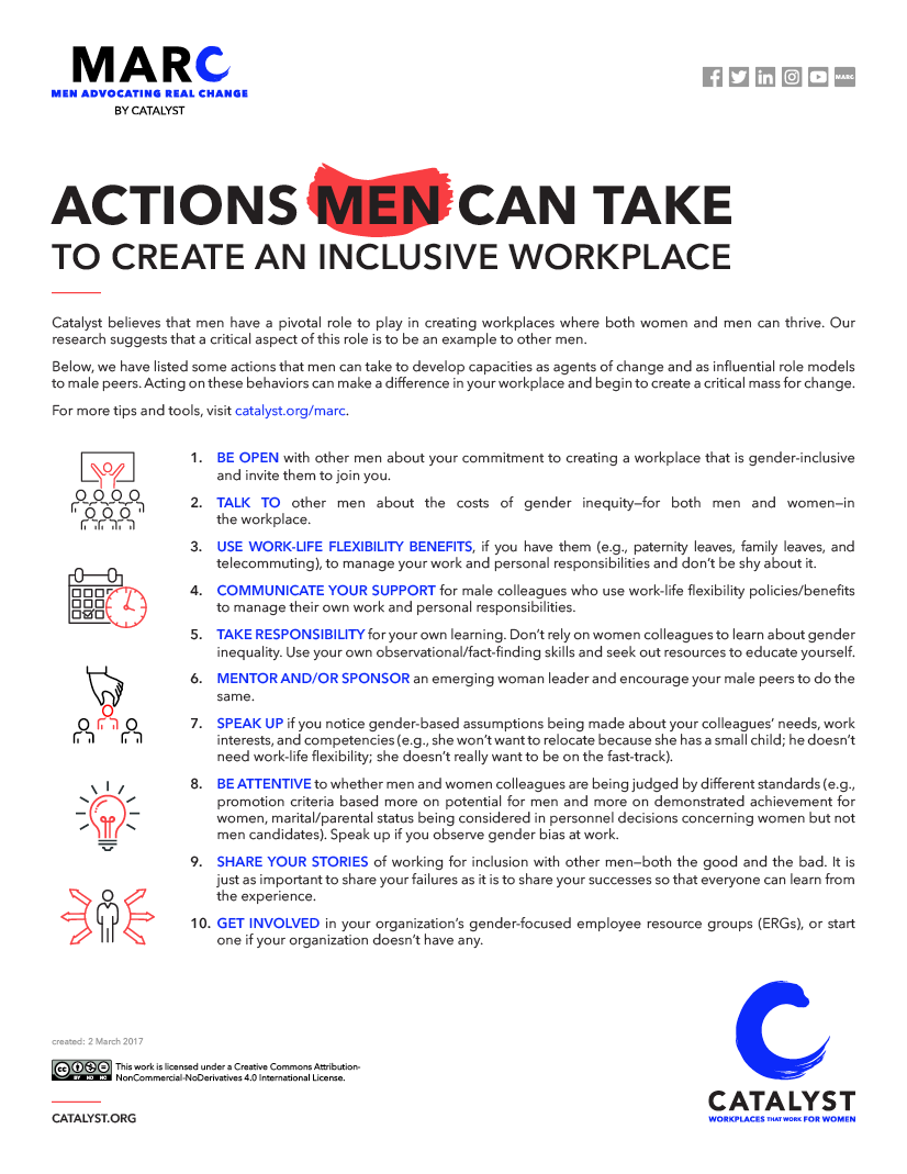 Actions Men Can Take to Create an Inclusive Workplace