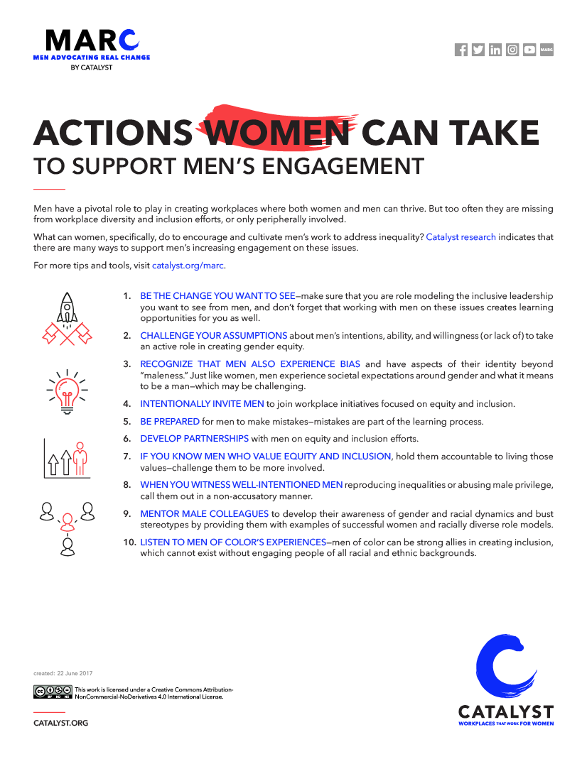 Actions Women Can Take to Support Men's Engagement